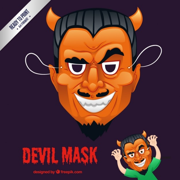 Devil mask Free Vector