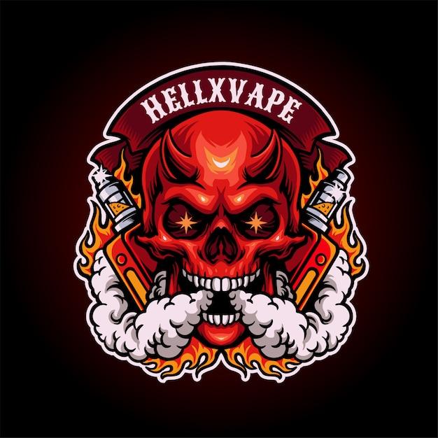 Devil vape illustration Premium Vector