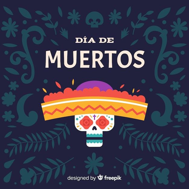 Dia de muertos background concept Free Vector