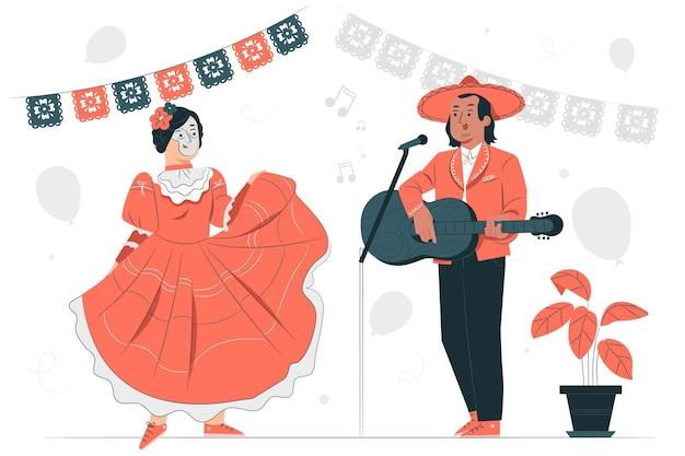 Иллюстрация концепции празднования dia de muertos Бесплатные векторы