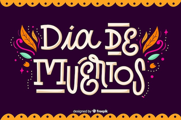 Día de muertos concept with flat design background Premium Vector
