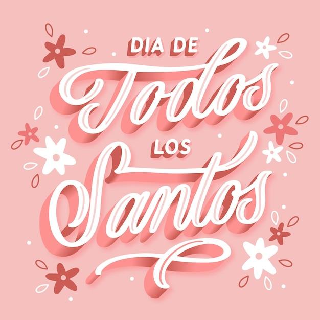 Día de todos los santos - надписи Бесплатные векторы