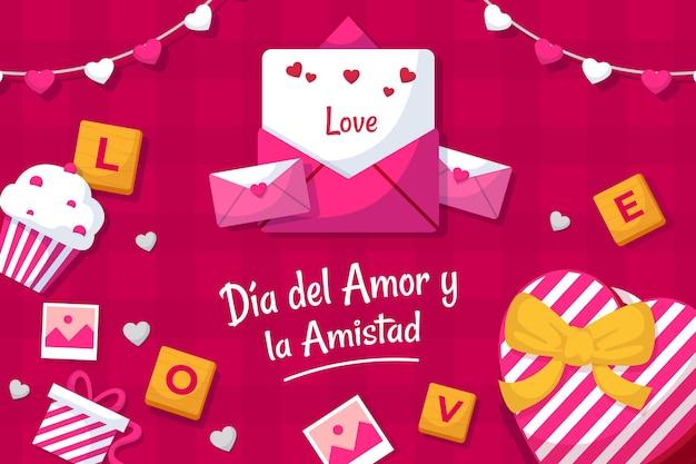 Día del amor y amistad illustration Free Vector