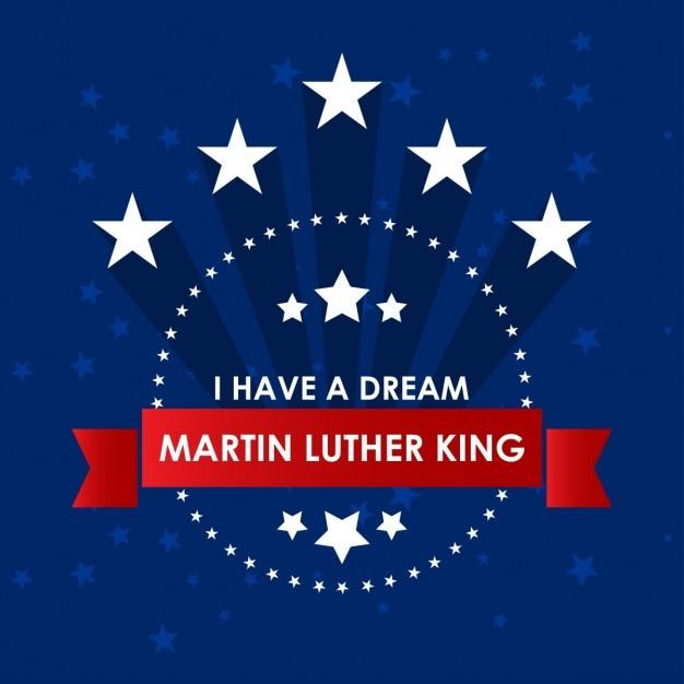 Diaデマーティン・ルーサー・キング・ジュニア。、フォンドのアスル 無料ベクター