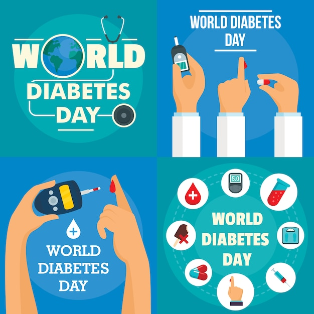 Diabetes day background Premium Vector