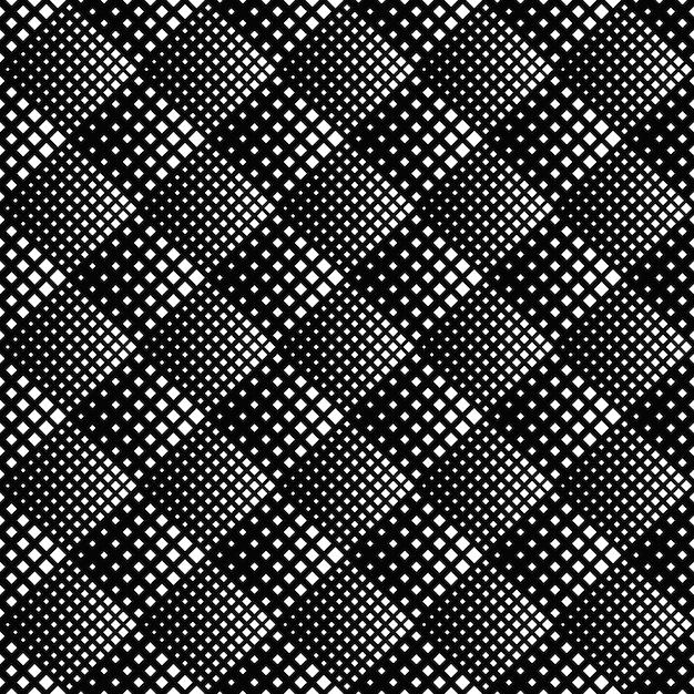 Diagonal square seamless pattern - monochrome Premium Vector