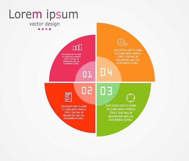 Диаграмма бизнес и образование инфографики шаблон Premium векторы