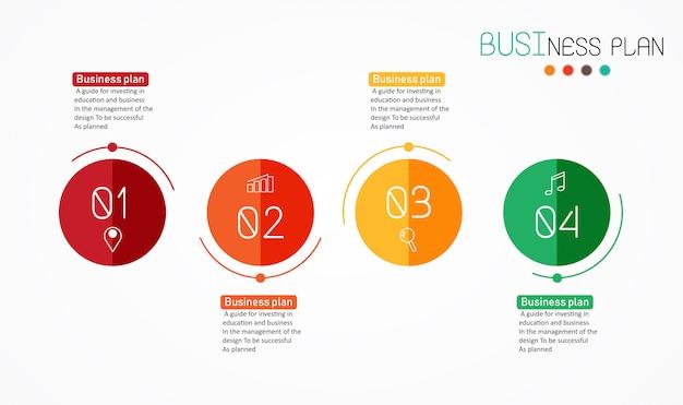 Диаграмма бизнес и образование Premium векторы