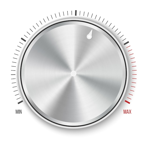 Dial knob level technology settings Premium Vector