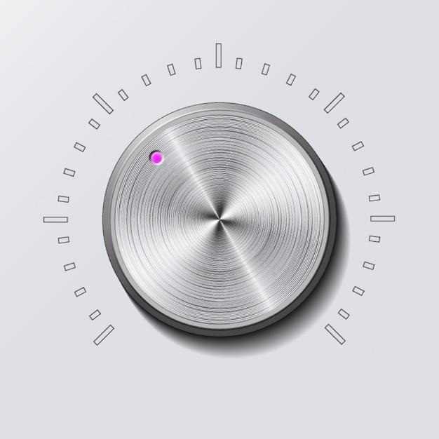 Dial knob Premium Vector
