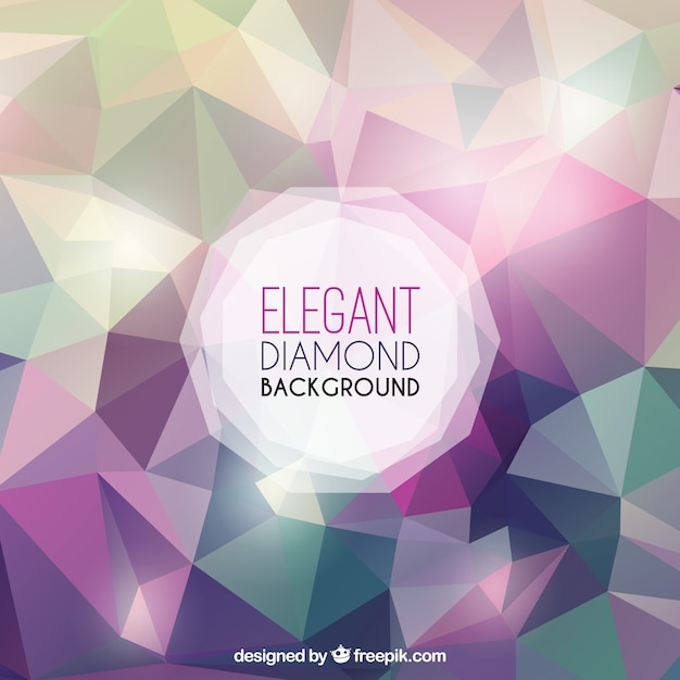 Diamond background with sparkles Free Vector