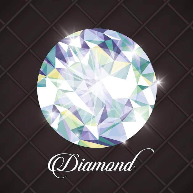 Diamond concept with icon design Premium Vector