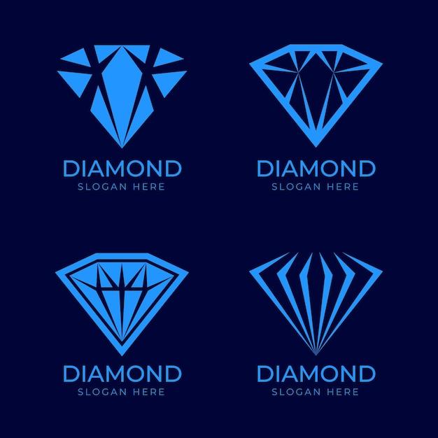 Алмазная коллекция логотипов Бесплатные векторы