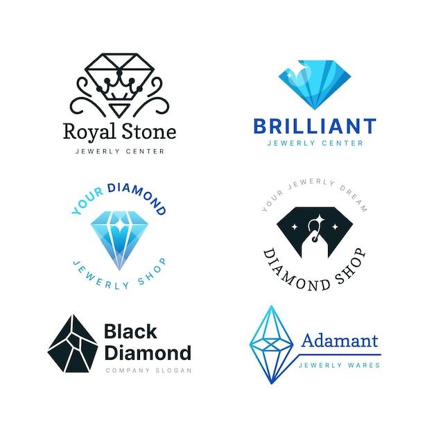 Коллекция логотипов diamond Premium векторы