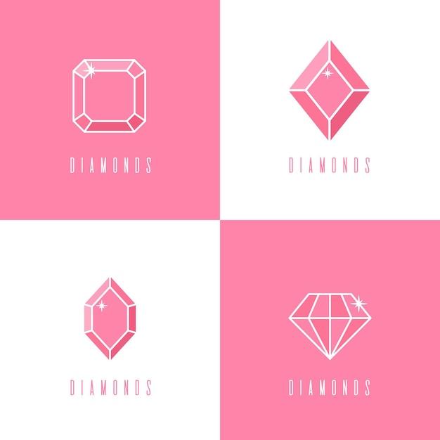 Коллекция логотипов diamond Бесплатные векторы
