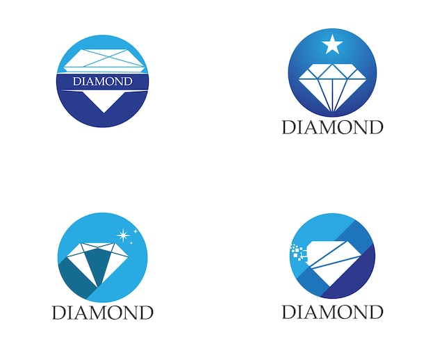 Diamond logo template Premium Vector