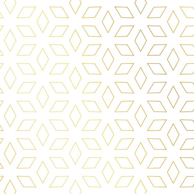Diamond shape golden pattern vector background Free Vector
