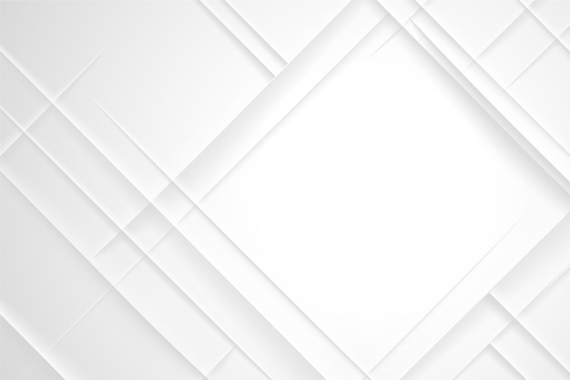 Diamond shape white abstract background Free Vector