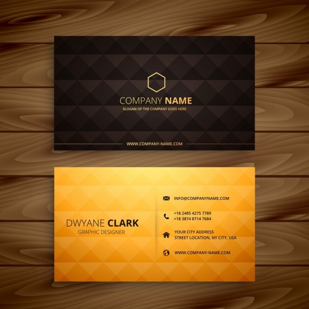 Diamond shapes golden business card vector free download diamond shapes golden business card free vector reheart Choice Image