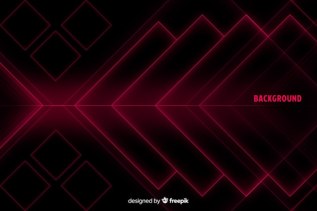 Diamond shapes in red shades background Free Vector