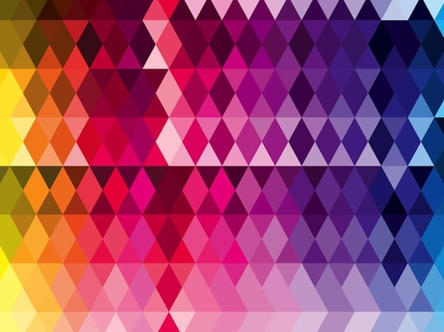 Diamonds Pattern In Rainbow Colors Vector