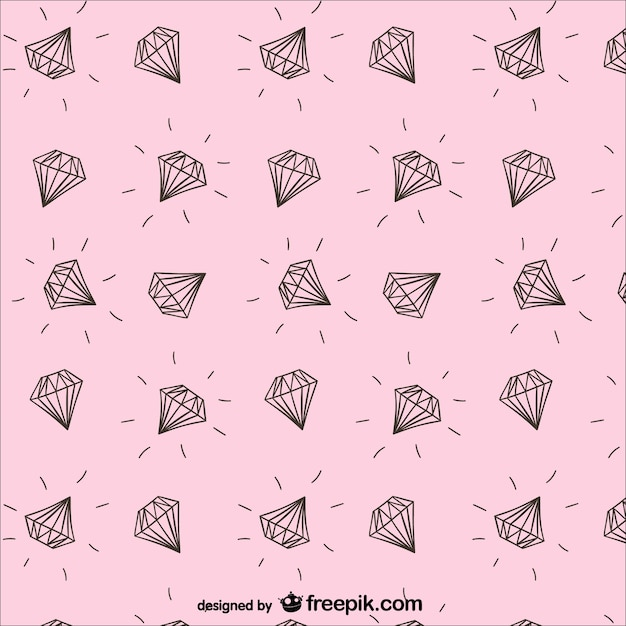 Diamonds pattern Free Vector