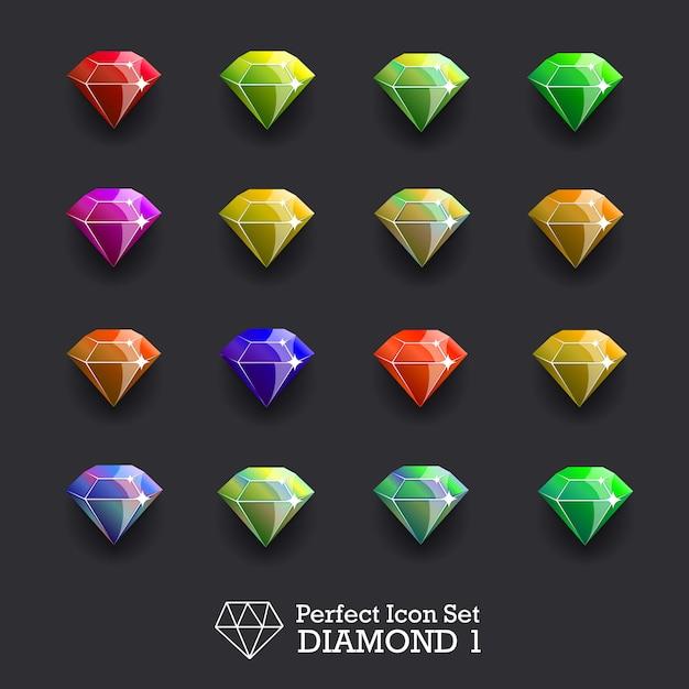 Diamondsetvector Premium Vector