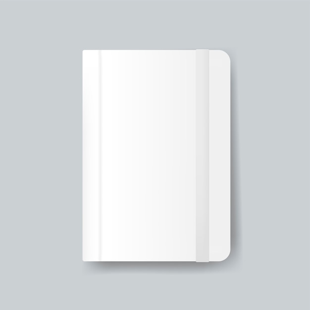 Diary cover design mockup vector Free Vector