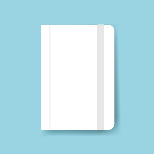 Diary cover design mockup Free Vector