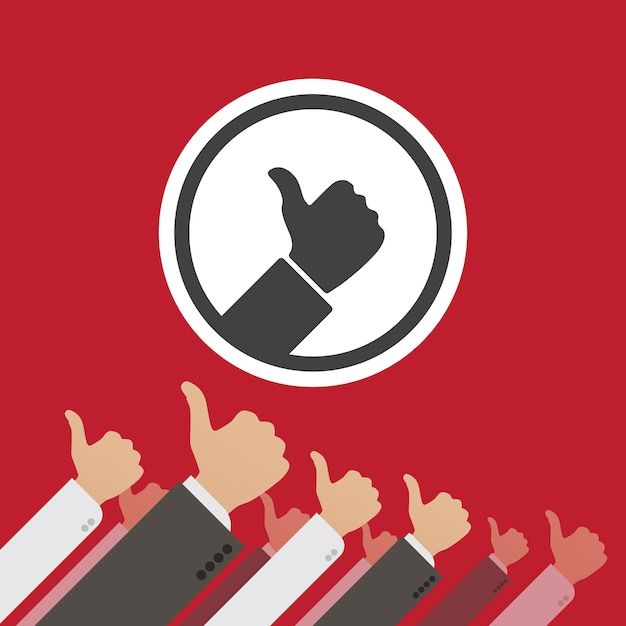 Dictatorship of the like. conceptual illustration suitable for advertising and promotion Premium Vector