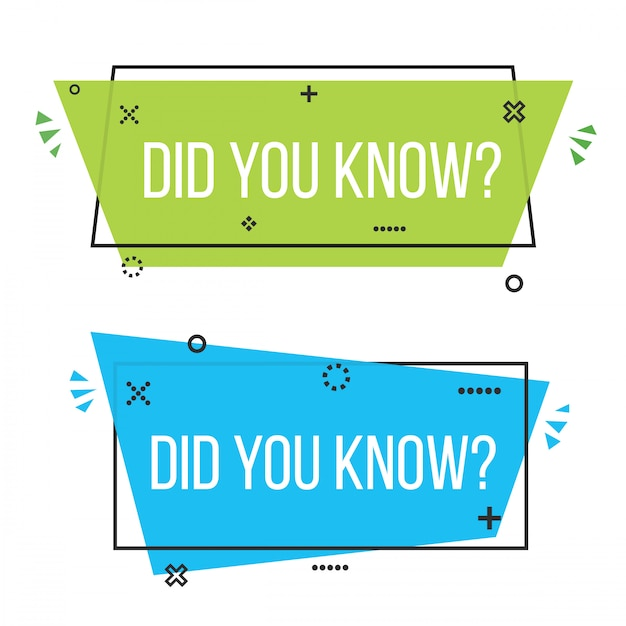 Did you know question mark label badge banner. Premium Vector