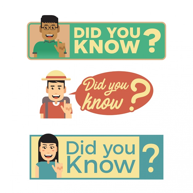 Did you know signs Premium Vector