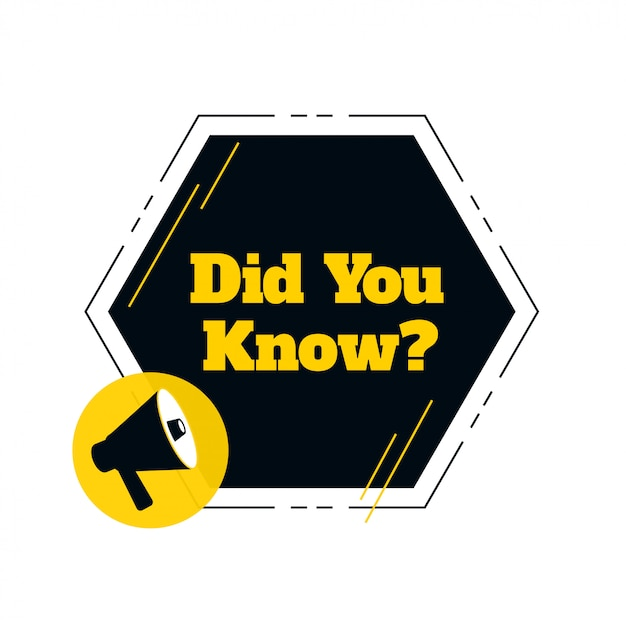 Did you know with megaphone design Free Vector
