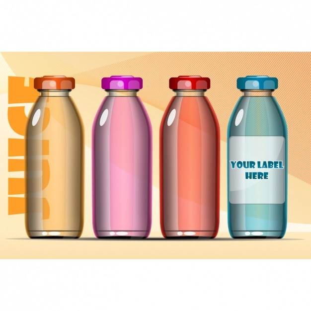 Different bottles Free Vector