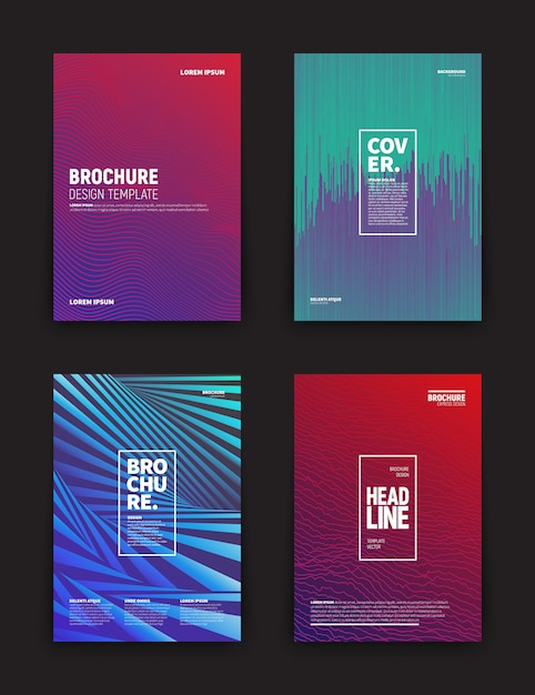 Different brochures design templates Premium Vector