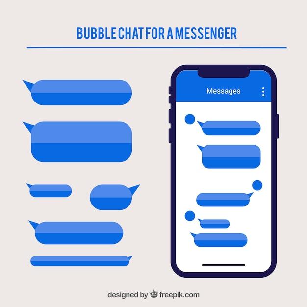メッセンジャーアプリケーションのための異なるバブルチャット 無料ベクター