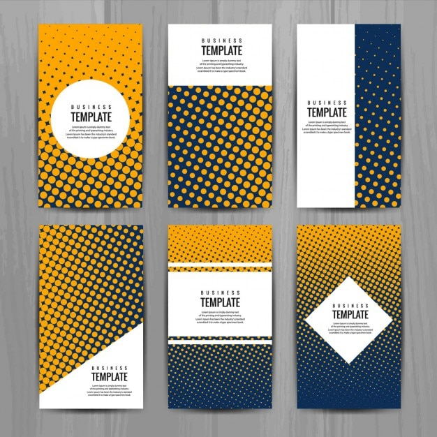 Different business cards with halftone dots vector free download different business cards with halftone dots free vector reheart Choice Image