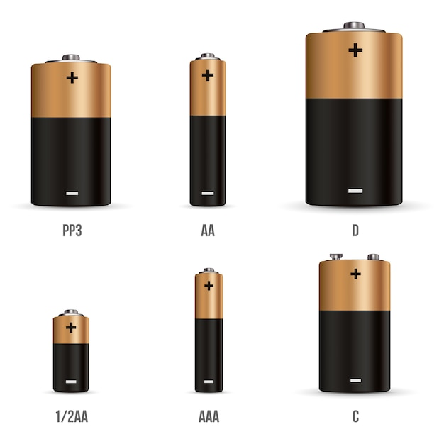Different charging status battery load Premium Vector