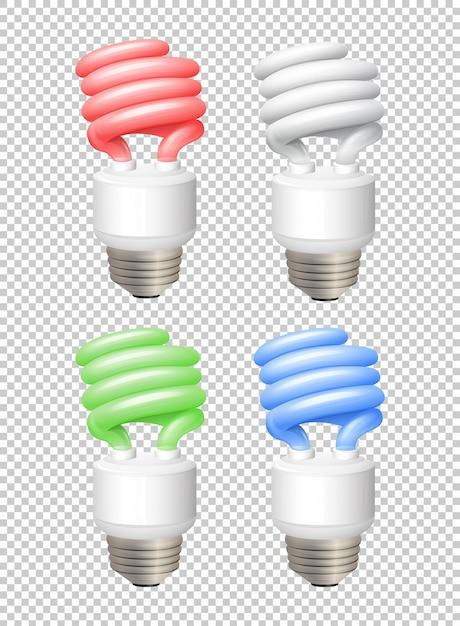 different color lightbulbs on transparent background illustration vector free download. Black Bedroom Furniture Sets. Home Design Ideas
