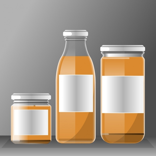 Different containers Free Vector