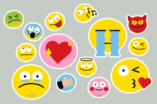 Different emoji set Free Vector
