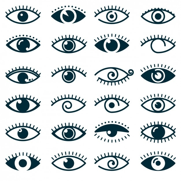 Different Eyes Icon Collection Vector Free Download