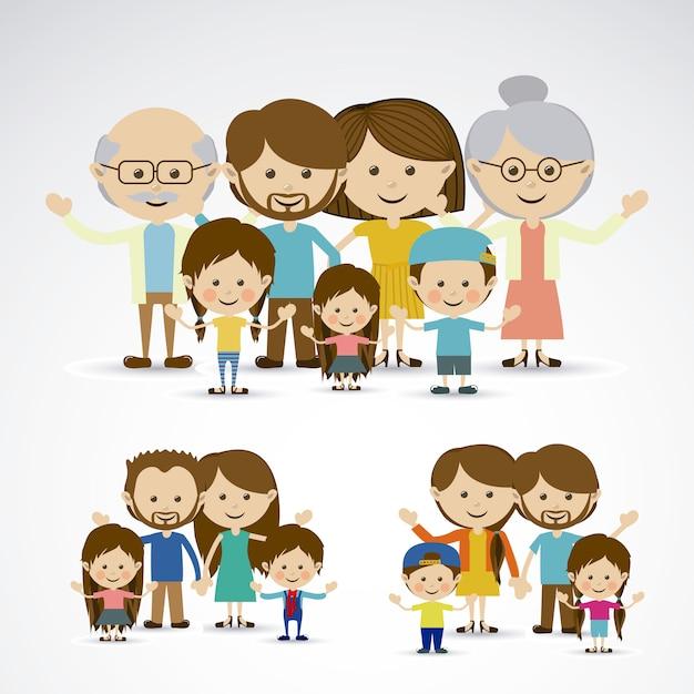 Different families Premium Vector