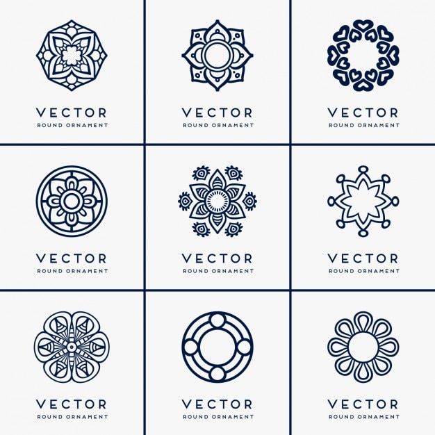 Different floral ornaments Free Vector