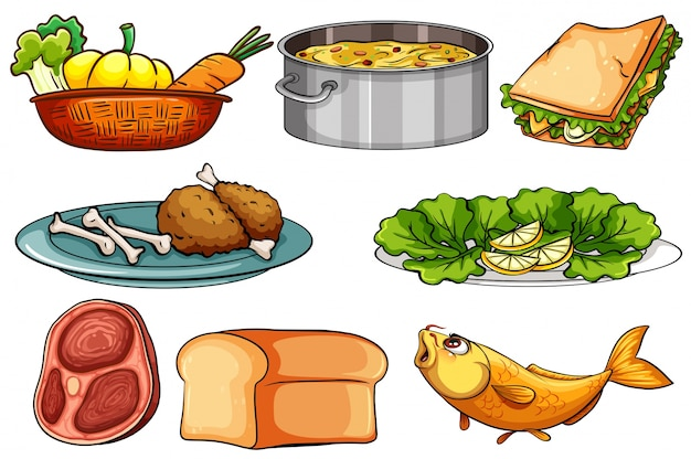 Snack vectors photos and psd files free download - Different types of entrees ...