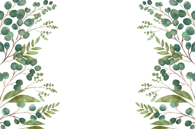 Different leaves copy space Premium Vector