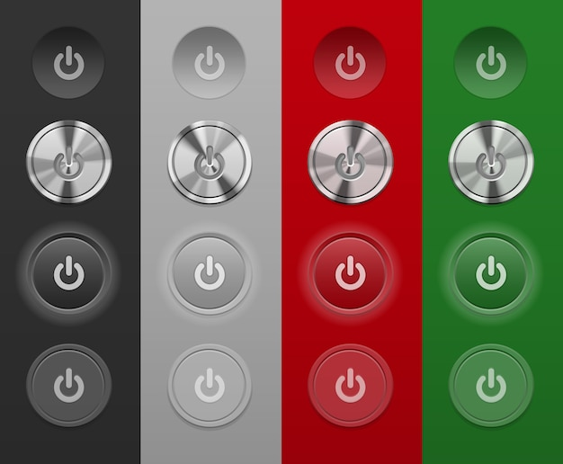 Different mac buttons do not depend on the background Free Vector