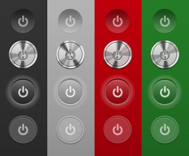 Различные кнопки mac не зависят от фона Бесплатные векторы