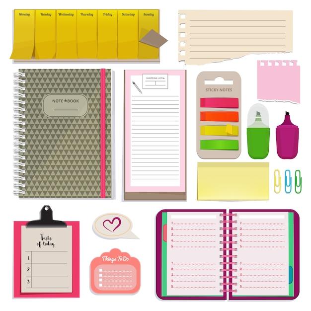 Different notebooks Premium Vector