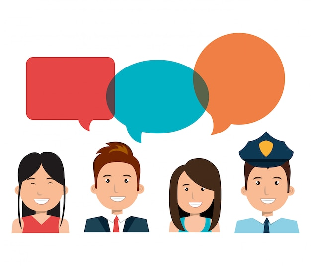Different people talking Free Vector